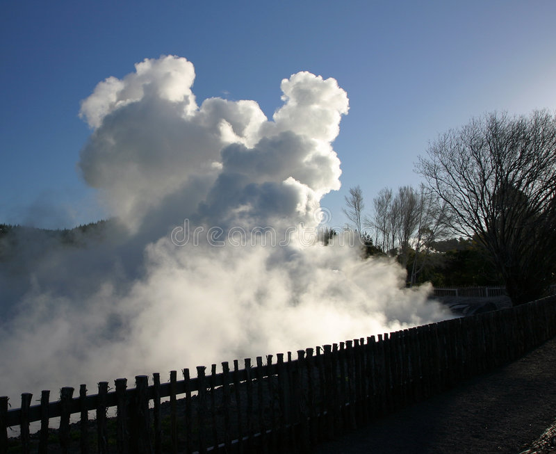 Resortes geotérmicos, Nueva Zelandia foto de archivo libre de regalías