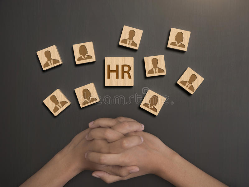 Resourc humano, pessoal seleto da avaliação conceito hora imagem de stock