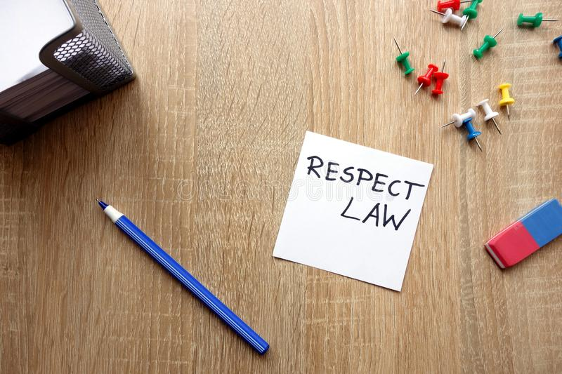 Respect law concept royalty free stock photography