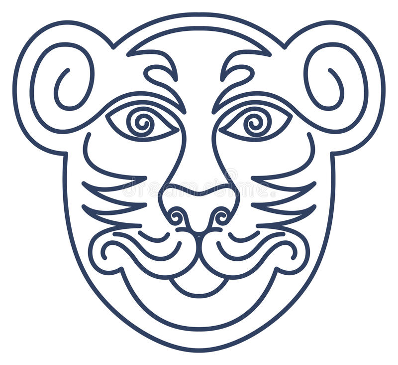 Respect Tiger Mask royalty free illustration