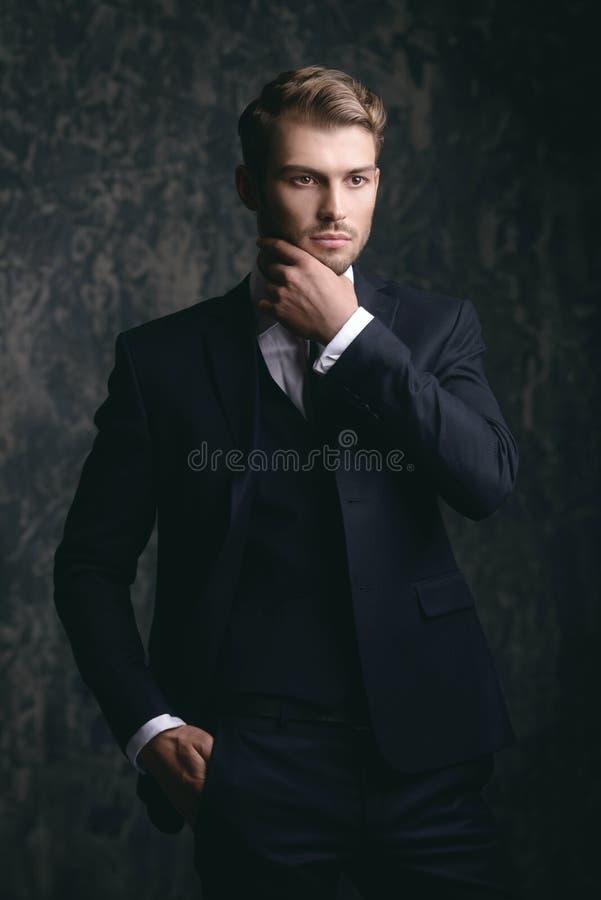 Respectabele mannelijke stijl stock afbeeldingen