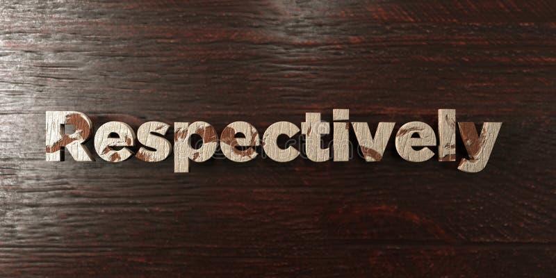 Respectivamente - título de madera sucio en arce - 3D rindió imagen común libre de los derechos ilustración del vector