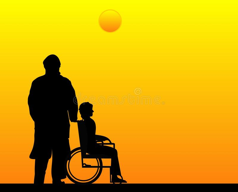 Respeito, amor e cuidado para aqueles que você ama. ilustração stock