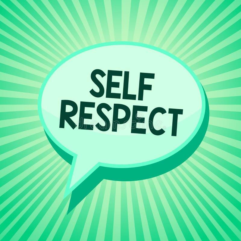 Respeito do auto do texto da escrita O orgulho e a confiança do significado do conceito noneself representam acima o senhor mesmo ilustração stock