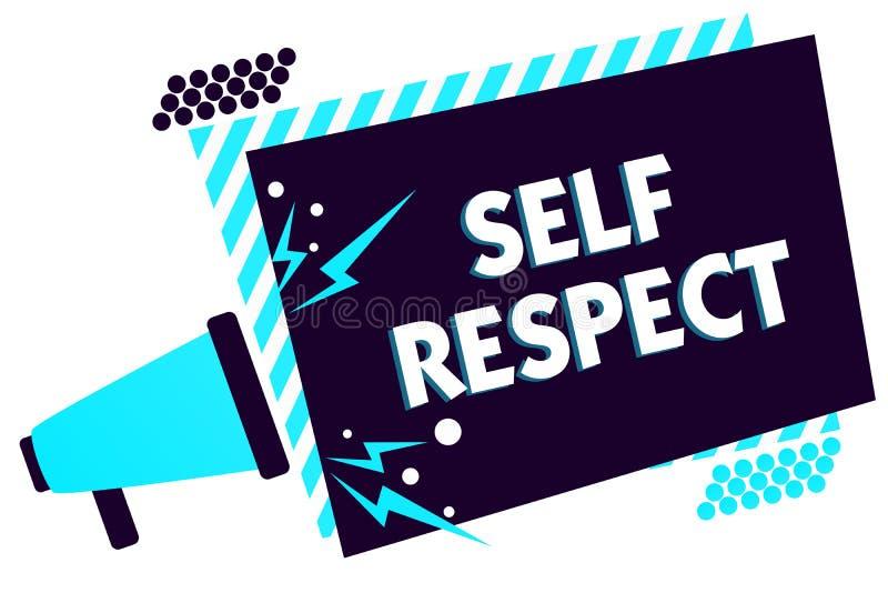 Respeito do auto do texto da escrita O orgulho e a confiança do significado do conceito noneself representam acima o senhor mesmo ilustração royalty free