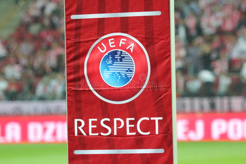 Respeito do UEFA imagens de stock royalty free