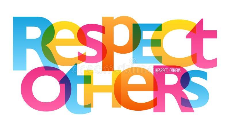 RESPEKT ANDRA typografiaffisch vektor illustrationer