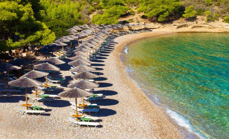 Respekt plaża na greckiej wyspie zdjęcie stock