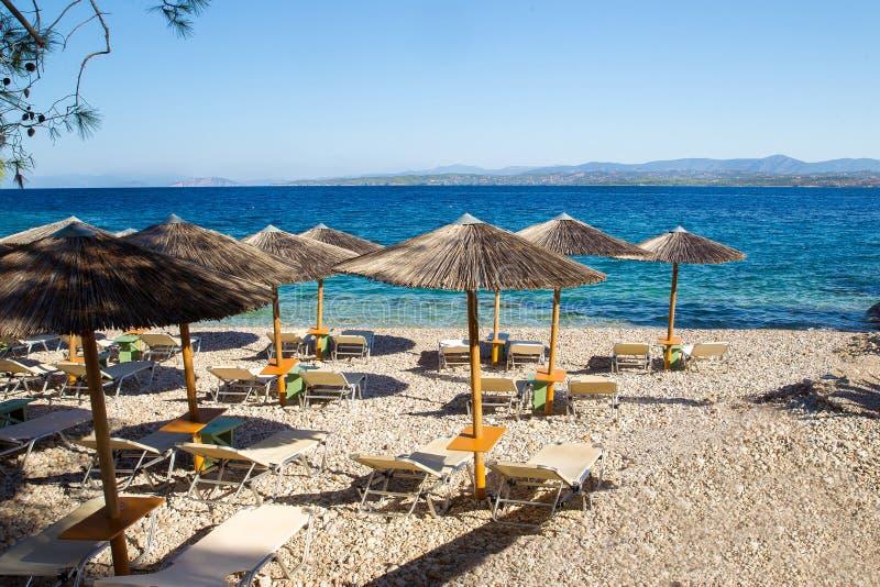 Respekt plaża na greckiej wyspie obraz stock