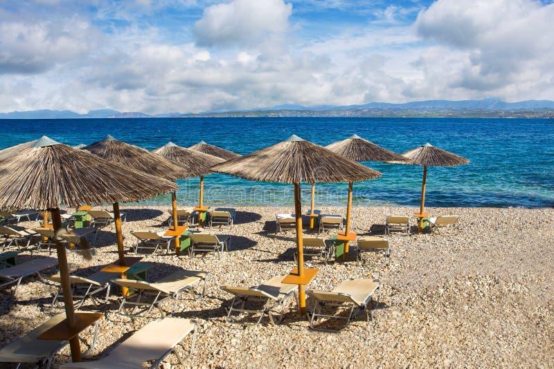 Respekt plaża na greckiej wyspie obraz royalty free