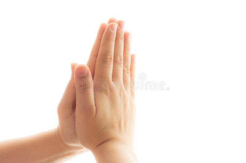 Respekt und Beten stockbild