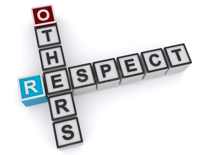 Respektera andra kuber royaltyfri illustrationer