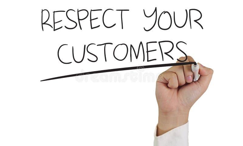 Respektera dina kunder arkivfoto