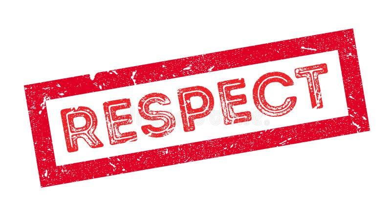 Respektstempel stock abbildung