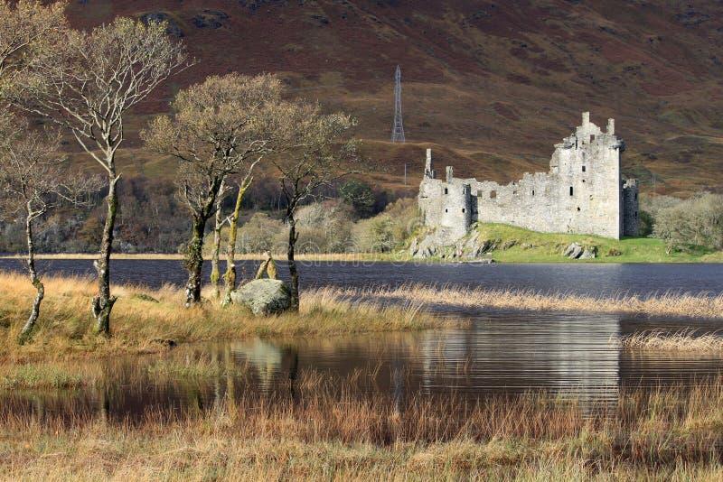 respektu grodowy kilchurn loch rujnuje Scotland zdjęcie royalty free