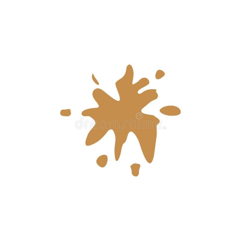 Respingo, ícone colorido do chá ilustração stock
