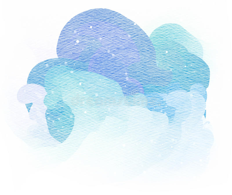 Respingo abstrato da aguarela Gota da aquarela ilustração stock