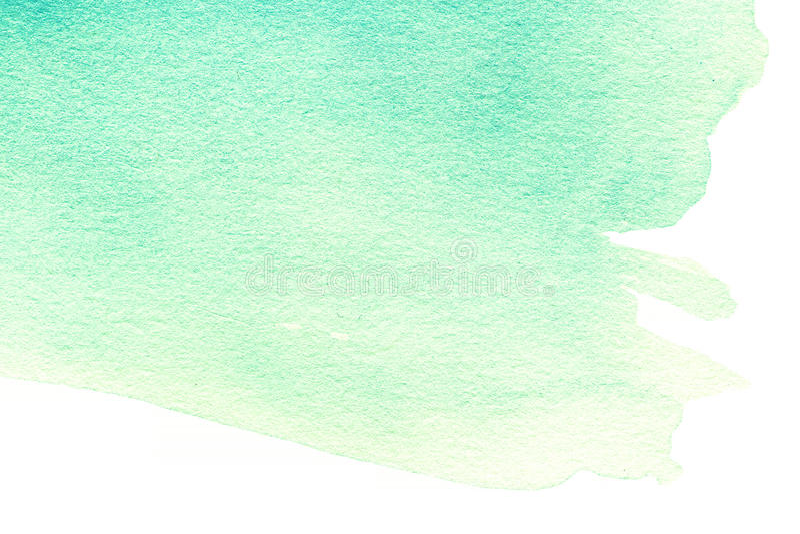 Respingo abstrato da aquarela da cor de turquesa Mão P do Watercolour ilustração do vetor