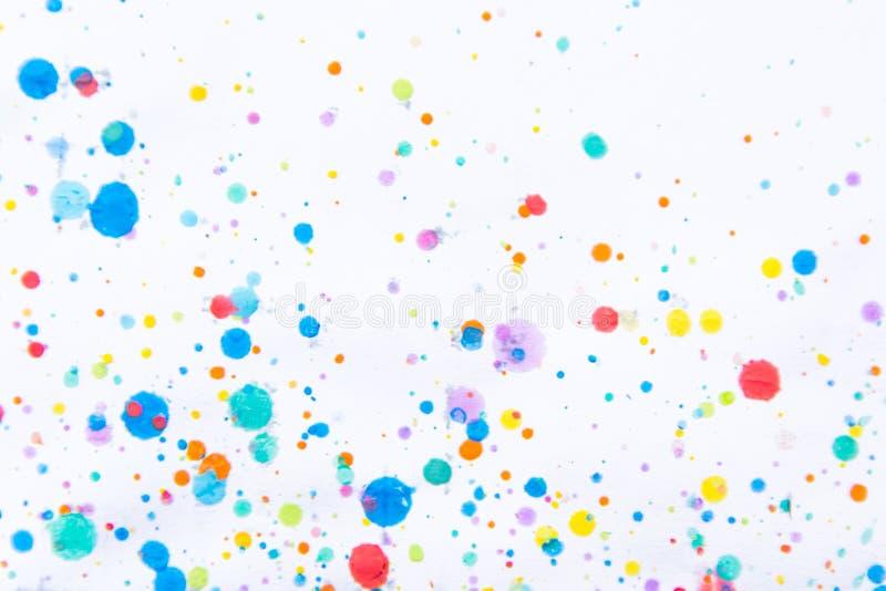 Respingo colorido da pintura da cor de água Mancha, ponto borrado Com t imagens de stock royalty free