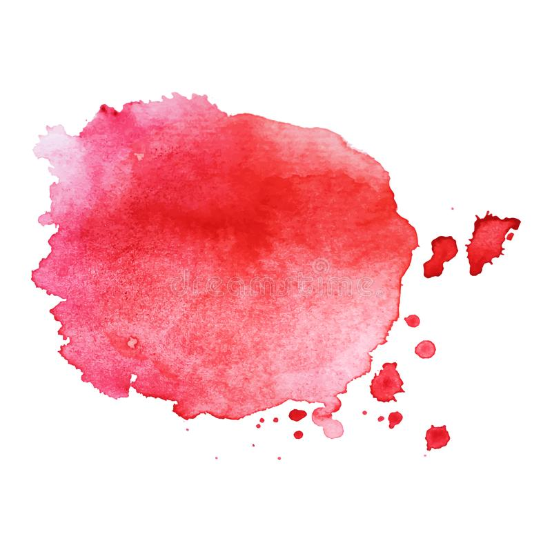 Respingo colorido isolado sum?rio da aquarela do vetor Elemento do Grunge para o projeto de papel fotografia de stock