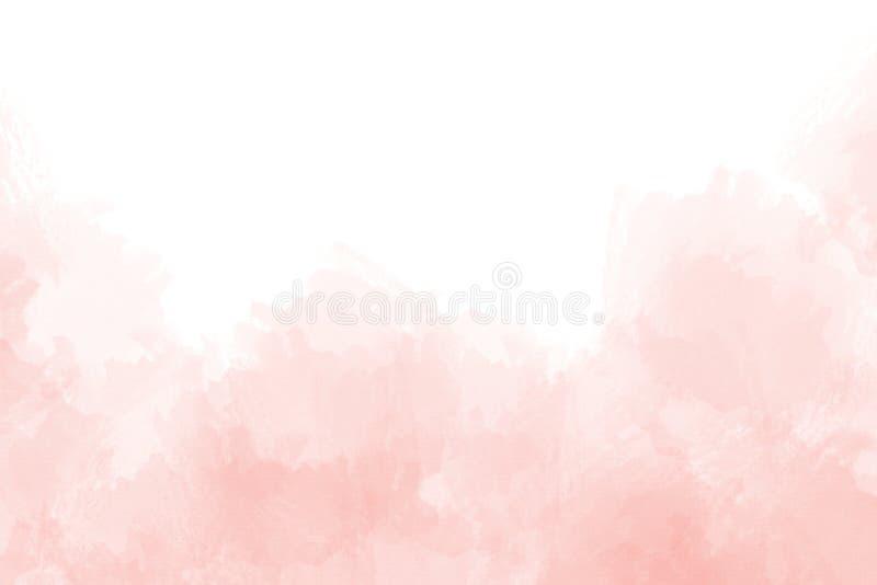 Respingo cor-de-rosa macio da aquarela inclinação textured abstrato no fundo branco ilustração royalty free