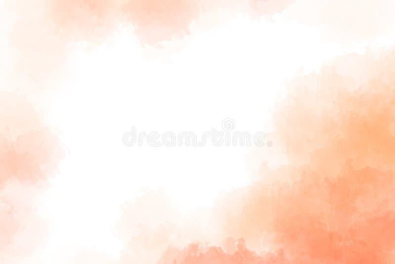 Respingo cor-de-rosa macio da aquarela inclinação textured abstrato no fundo branco ilustração stock