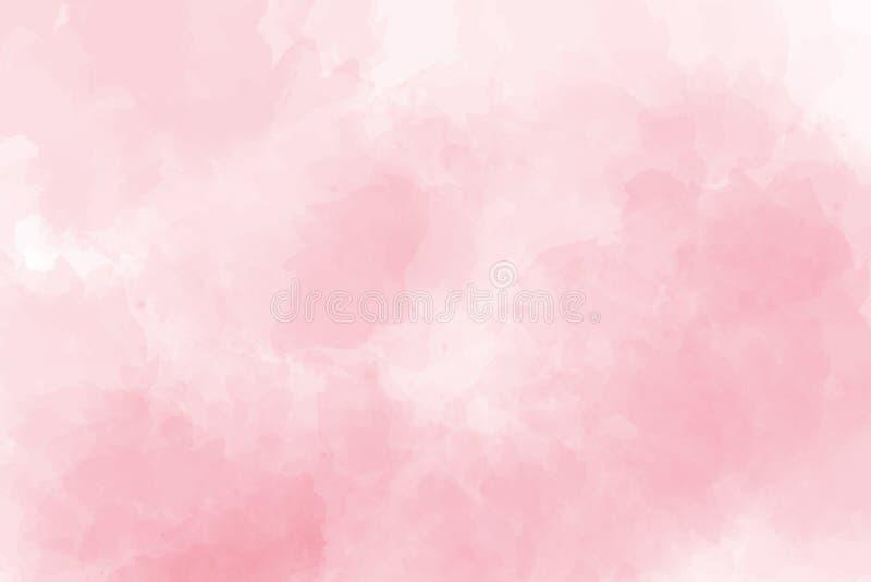 Respingo cor-de-rosa macio da aquarela inclinação textured abstrato no fundo branco ilustração do vetor