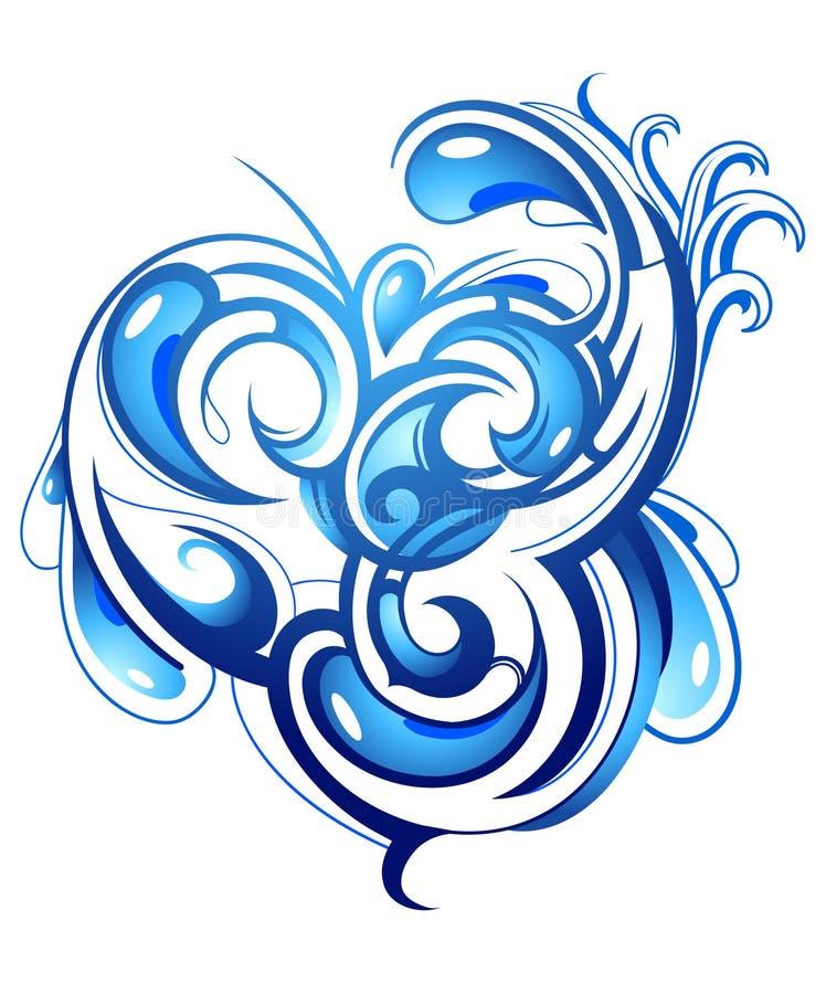 Respingo da água ilustração royalty free