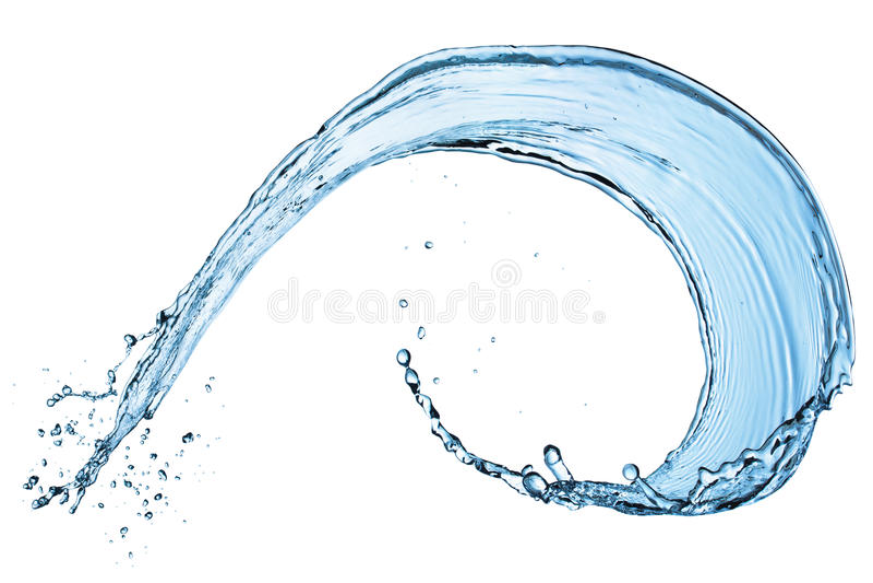 Respingo da água. foto de stock royalty free