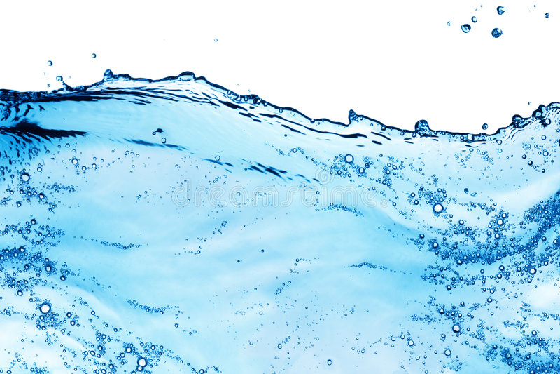 Respingo da água azul fotografia de stock royalty free