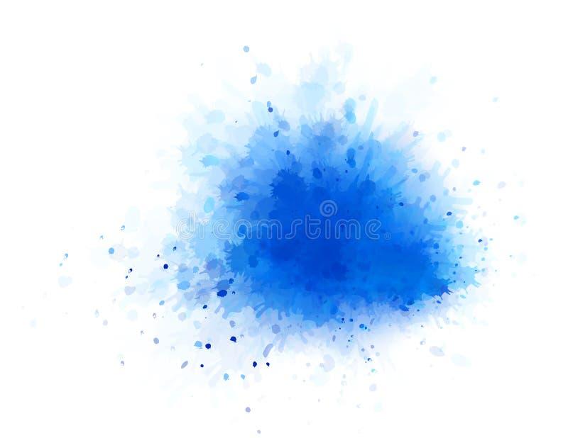 Respingo da água azul ilustração do vetor