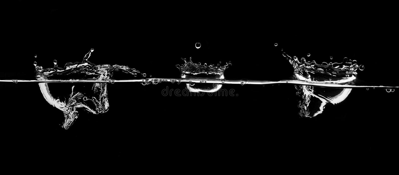 Respingo da água branca imagem de stock
