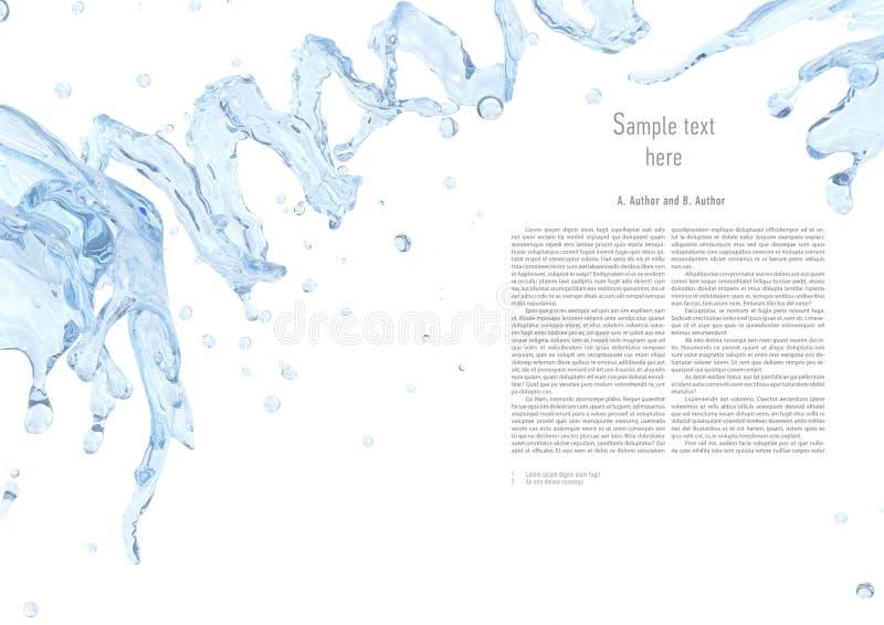 Respingo da água com as gotas de água isoladas Elemento líquido do projeto do molde ilustração 3D ilustração do vetor