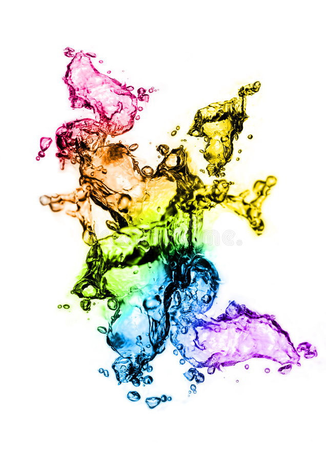 Respingo da água da cor!