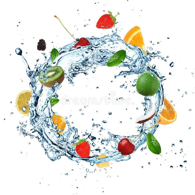 Respingo da água da fruta ilustração royalty free