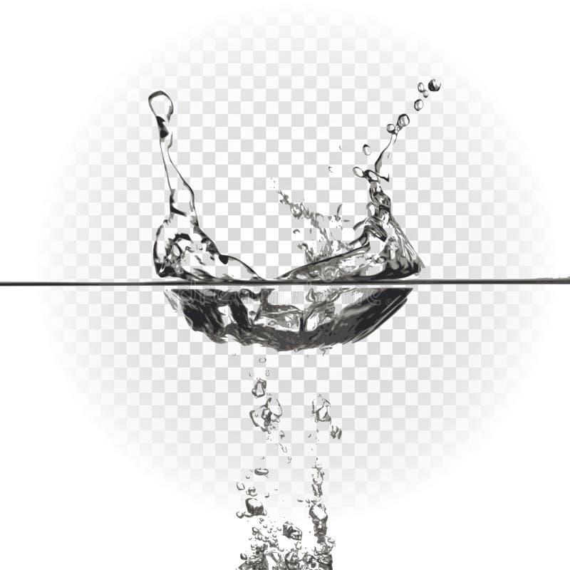 Respingo da água, ilustração do vetor ilustração royalty free