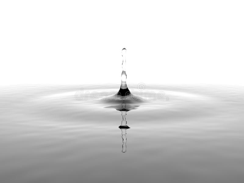 Respingo da água no fundo branco fotos de stock