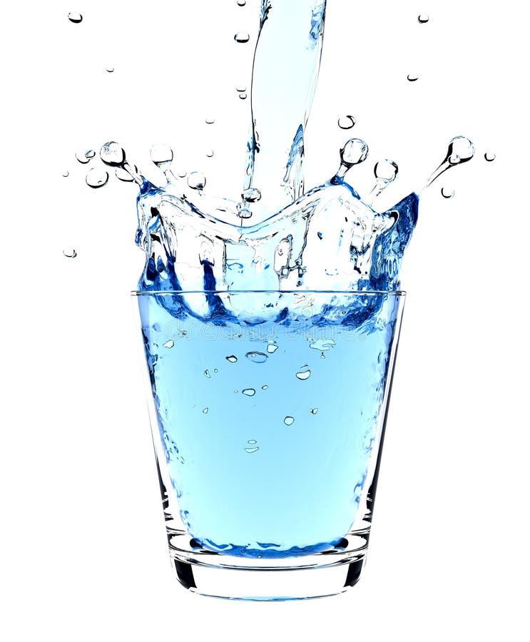 Respingo da água no vidro imagem de stock royalty free