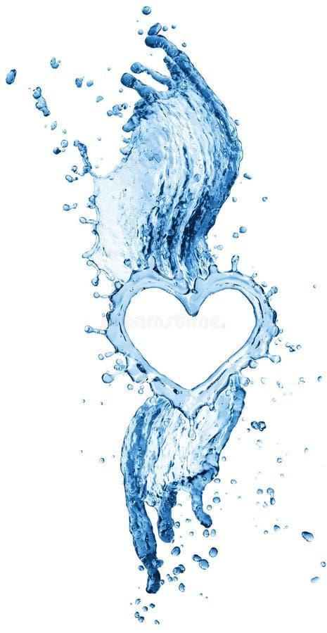 Respingo da água sob a forma de um coração fotografia de stock