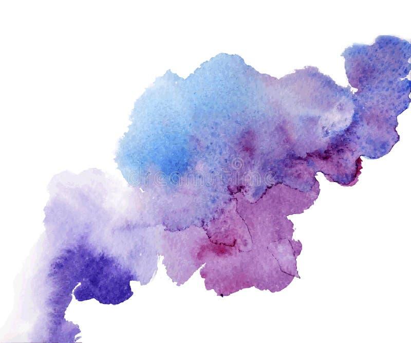 Respingo da aquarela um ponto agradável no molhado ilustração royalty free