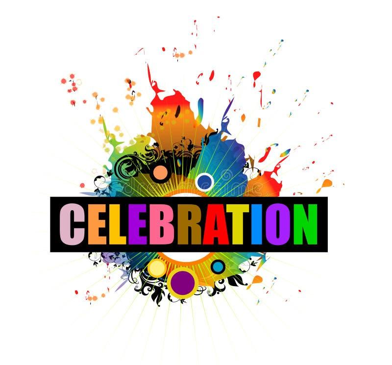Respingo da celebração ilustração royalty free