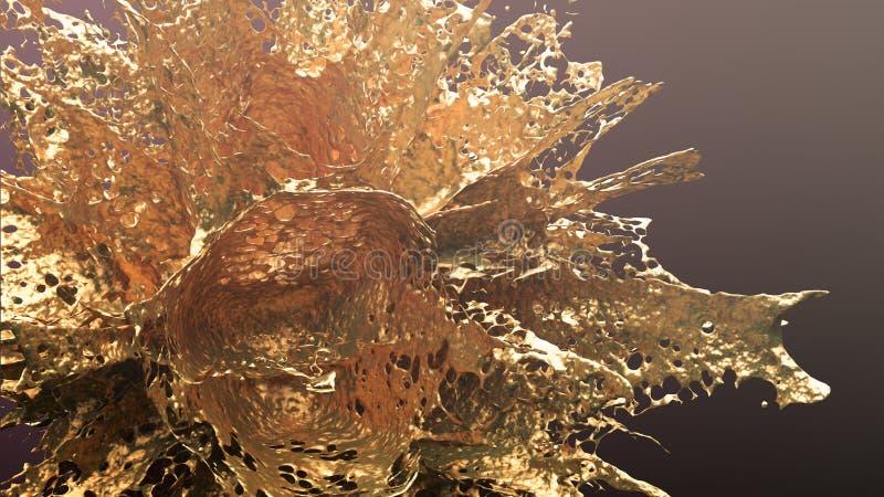 Respingo da explosão do ouro ilustração do vetor