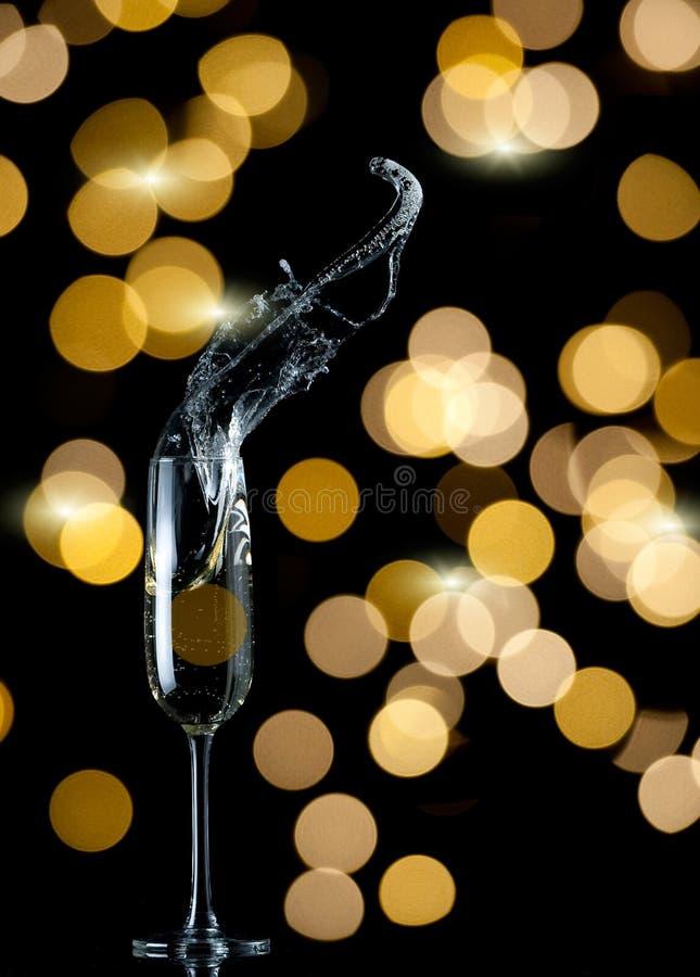Respingo da flauta de Champagne imagem de stock