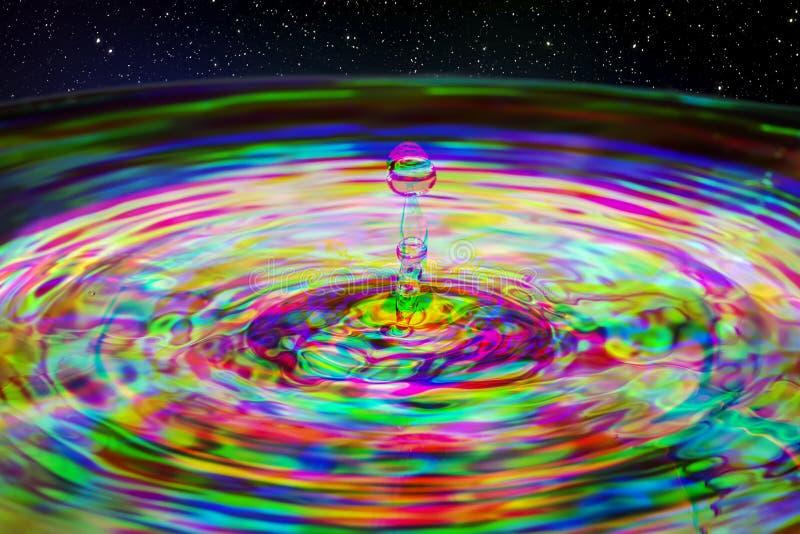 Respingo da ondinha da gota da água imagens de stock royalty free