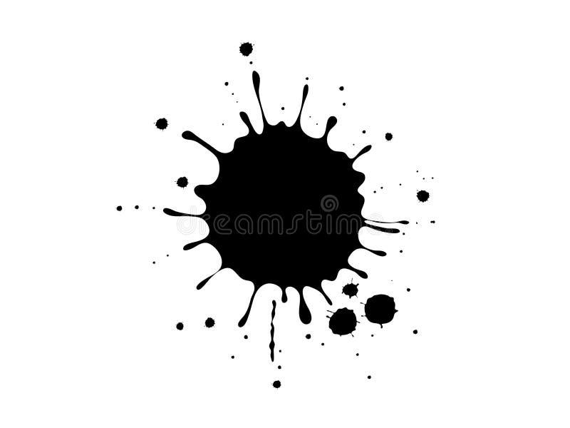 Respingo da tinta ilustração do vetor