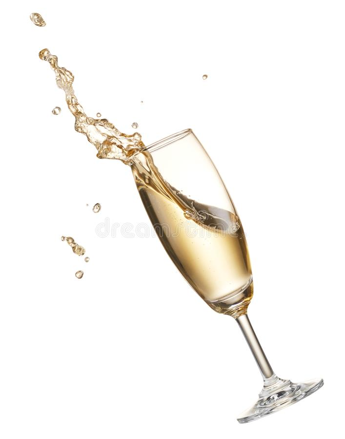 Respingo de Champagne foto de stock royalty free