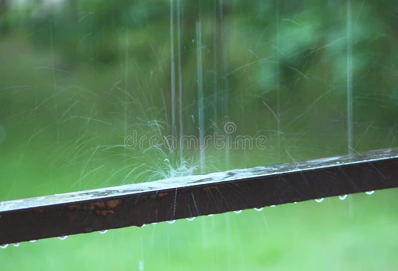 Respingo de gotas da chuva imagens de stock royalty free