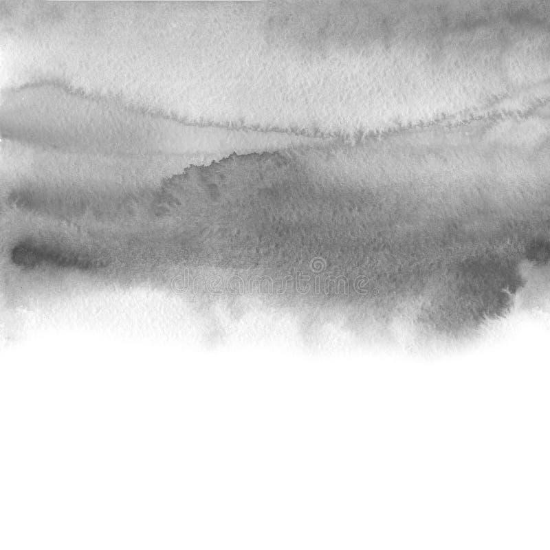 Respingo de imitação da aquarela cinzenta - molde para seus projetos ilustração do vetor