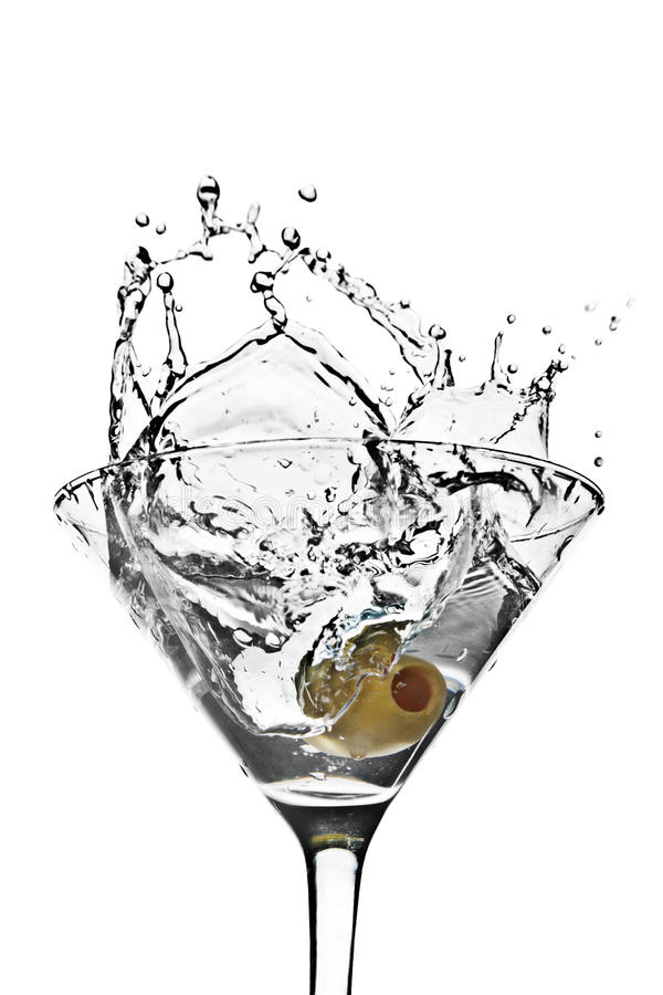 Respingo de Martini imagem de stock royalty free
