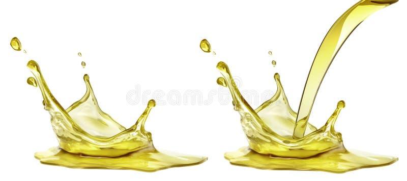Respingo do óleo da azeitona ou de motor, líquido cosmético do soro ilustração royalty free